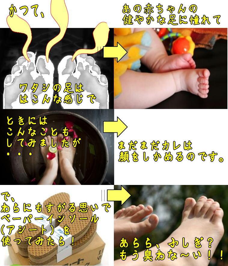 靴の防臭インソール アシート抗菌タイプ