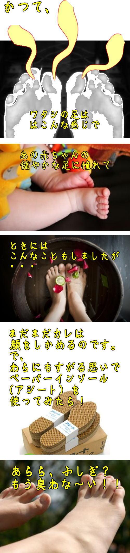 足臭い対策・アシート抗菌タイプ
